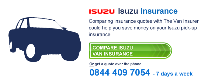 Compare Isuzu Van Insurance