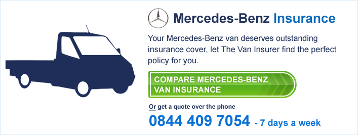 Mercedes benz the van insurer for Mercedes benz insurance