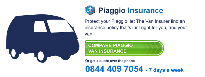 Compare Piaggio Van Insurance