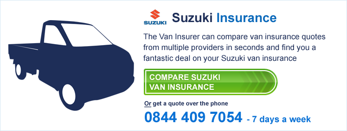 Compare Suzuki Van Insurance
