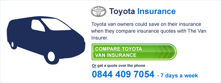 Compare Toyota Van Insurance